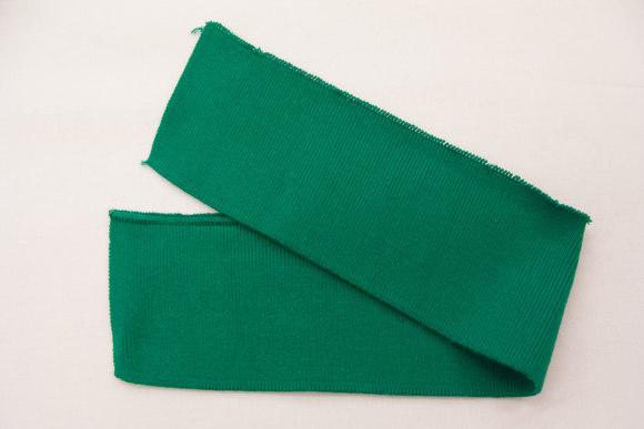 Polo krave grøn 7x38cm