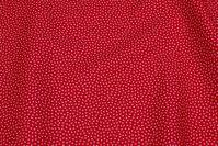 Rød bomuld med lille sart rosa blad