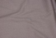 Sandfarvet bomuld med 1 mm hvid prik