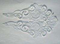 Spachtelblonder, hvid ornament