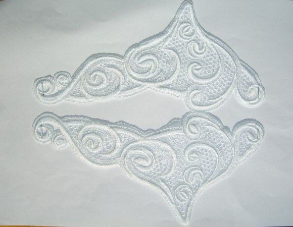 Spachtelblonder, hvid ornament nr. 2