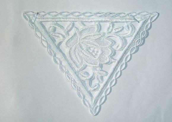 Spachtelblonder - hvid trekant