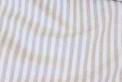 Textildug stribet sand og off white