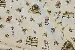 Hør-look med bier og kuber