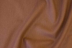 Nougatfarvet frakkestof i polyester med uld-look