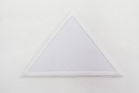 Trekant Hvid 8x11cm