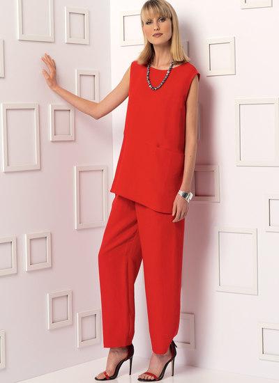 Tunika med ærmevariation og bukser - Marcy Tilton