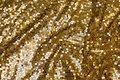 Mesh-bund med guldpailletter