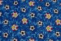 Blå bomuld med 3-4 cm fodbolde