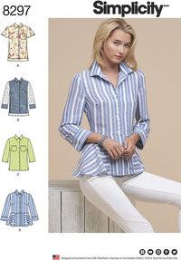 Bluser og skjorter. Simplicity 8297.