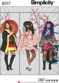 Cosplay Kimono Kostumer. Simplicity 8317.