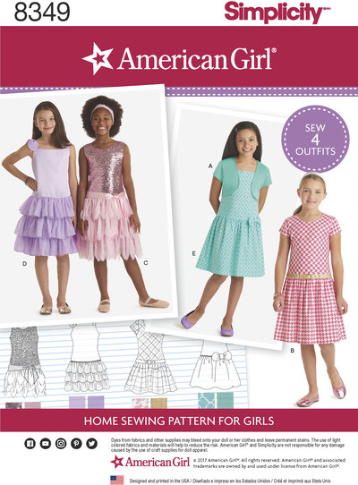 American Girl Child´s Dress and Knit Shrug
