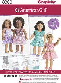 Pige dukketøj. Simplicity 8360.