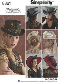 Hats in Three Sizes. Simplicity 8361.