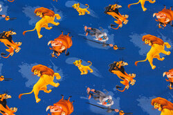 Blå bomuldsjersey med Løvernes Konge
