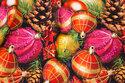 Bomuldsjersey med flotte julekugler