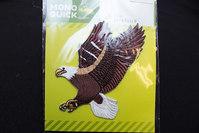 Flyvende ørn strygemærke 8x8cm