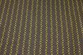 Koksgrå patchworkbomuld med gult 3,5 cm mønster