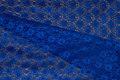 Let, coboltblå polyesterblonde uden stræk.