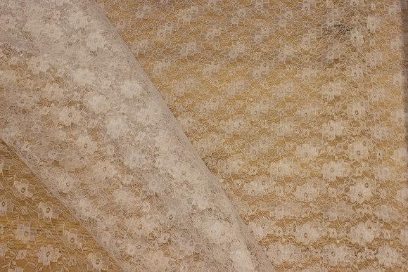 Let, hvid polyesterblonde uden stræk