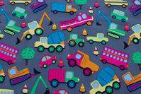 Mørkgrå Softshell med biler til jakker m.m.