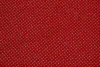 Rød bomuld med mini-guldprik
