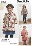 Simplicity 8305. Child´s Coat and Jacket.