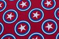Smart, rød Softshell med stjerner til jakker m.m..
