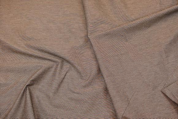 Sort-sand bomuld, gennemvævet, 1,5 mm striber