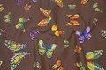 Kraftig kvalitet i stor bredde, brun med sommerfugle. 119 kr.