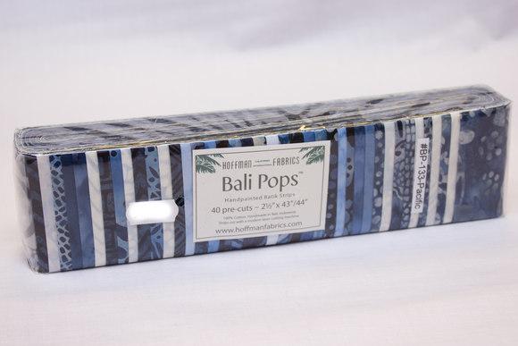Smukke batikstoffer blå farver - pacific