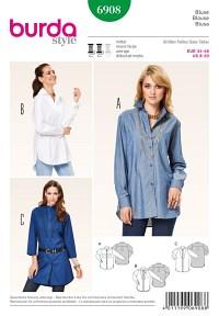 Burda mønster: Bluse, skjortebluse