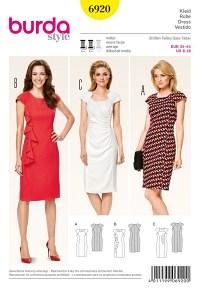 Burda mønster: Kjole med skulderpartier