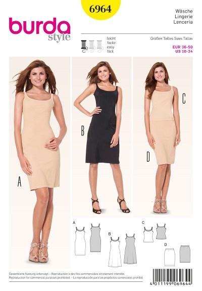 Lingerie, tætsiddende kjole