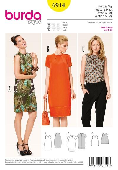 Trekvart-lang kjole og top