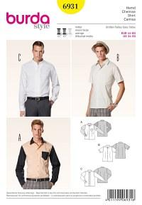 Skjorte til mænd. Burda 6931.