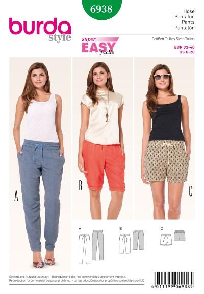 Bukser med elastik, bermuda shorts