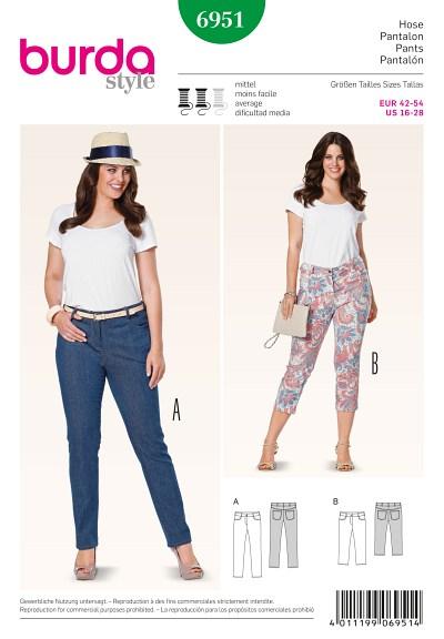 Trekvart-bukser, jeans