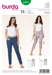 Trekvart-bukser, jeans. Burda 6951.