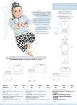 Dejlig babybuks med bred ribtalje. Super enkel oversize bluse og fin lille hue med bindebånd.