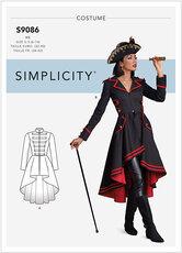 Pirat eller sørøver-kvinde kostume. Simplicity 9086.