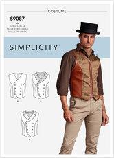 Vest, 1900-tals vest, kostume. Simplicity 9087.