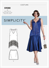 1920er Charlston kjole. Simplicity 9088.