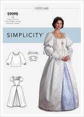 Dronningekostume. Simplicity 9090.