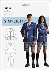 Polo mand-kvinde kostume. Simplicity 9094.