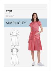 Kjole. Simplicity 9136.