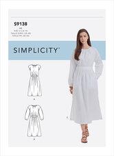 Kjole. Simplicity 9138.