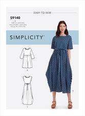 Afslappet pullover kjole. Simplicity 9140.