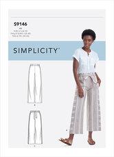 Pull-on bukser. Simplicity 9146.