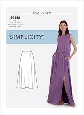 Nederdele og Top. Simplicity 9148.